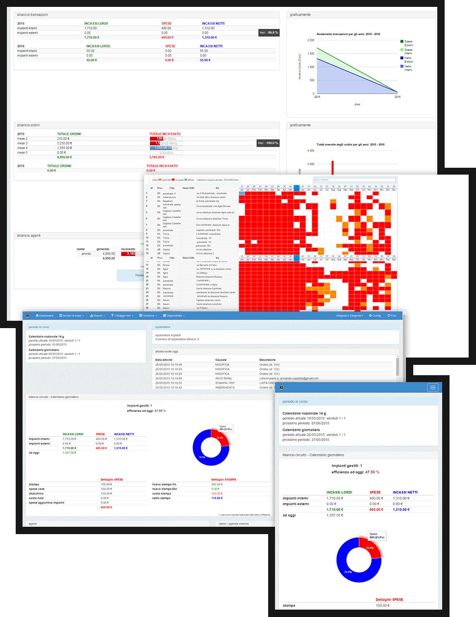 Software per la gestione di impianti pubblicitari